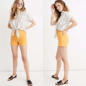 Madewell Emmett Shorts in Mustard Yellow
